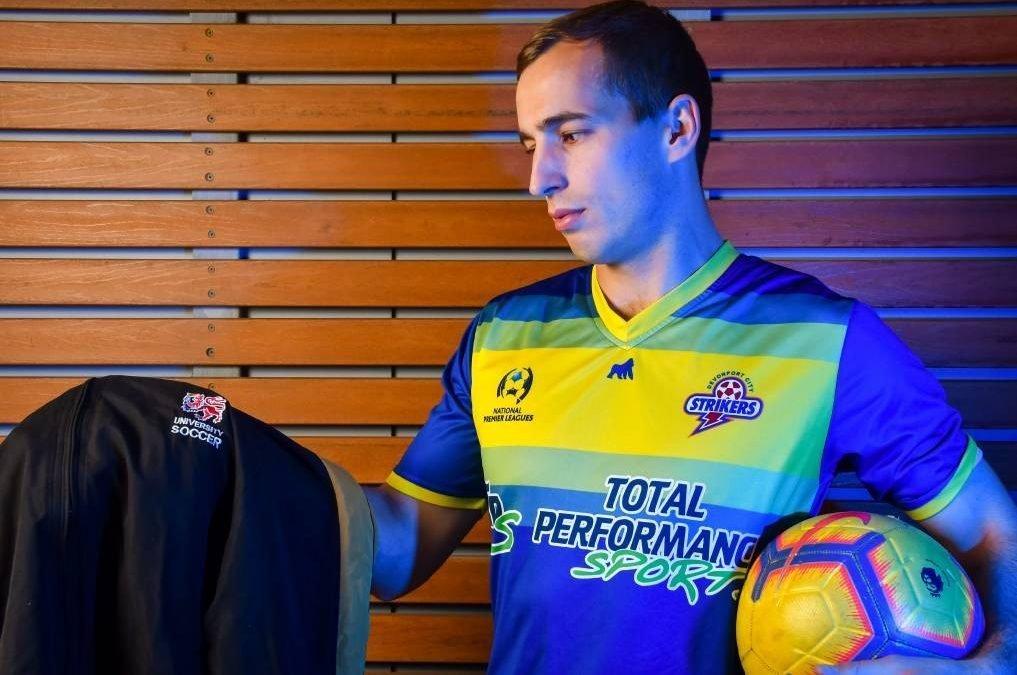 Devonport Strikers Miles Barnard to take on former club University in Lakoseljac Cup